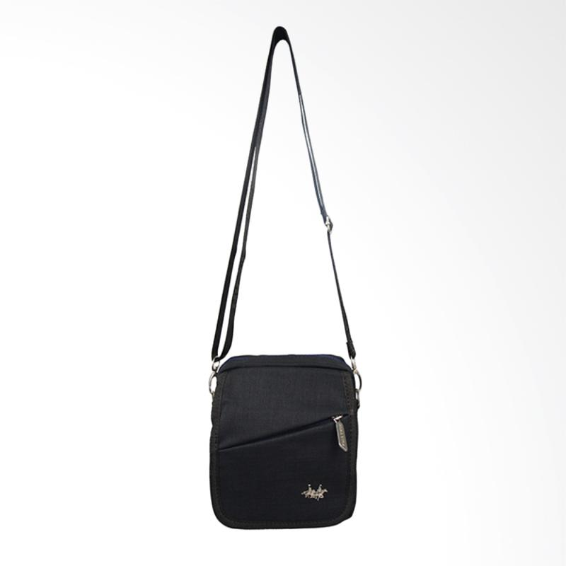 Polo Twin Shoulder Bag Tas Selempang Pria - Black [136-06]