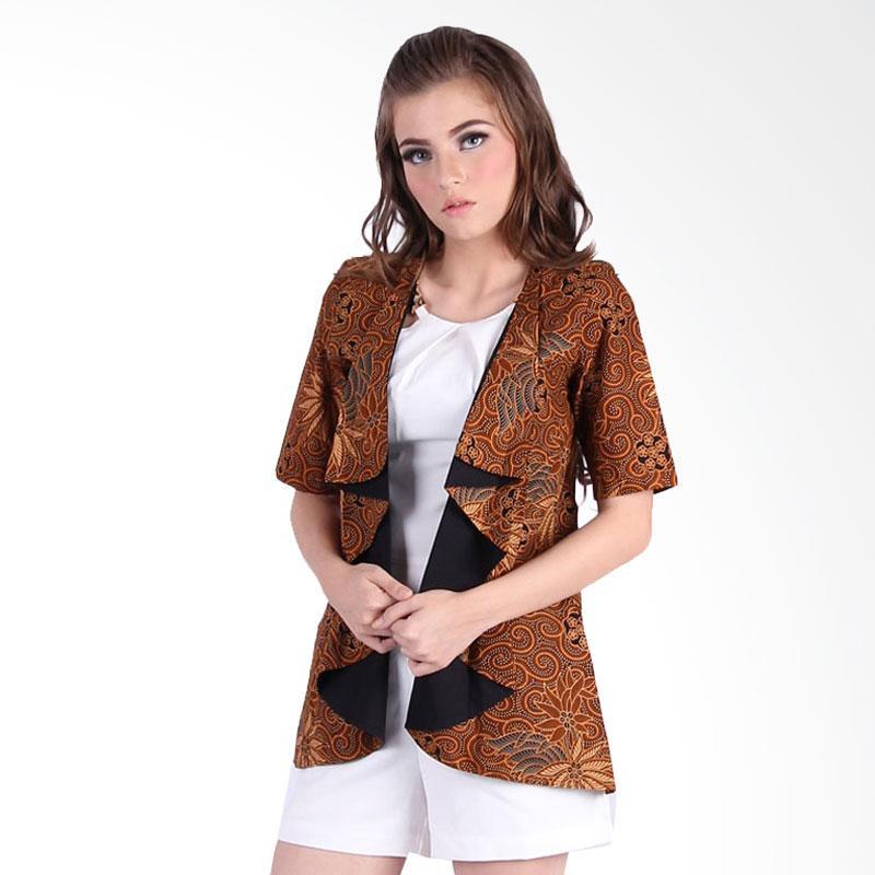 Rianty Shasi Cardigan Luaran Batik - Brown