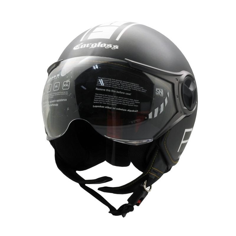 Cargloss YR Protect SG Fitur Kacamata Helm Half Face