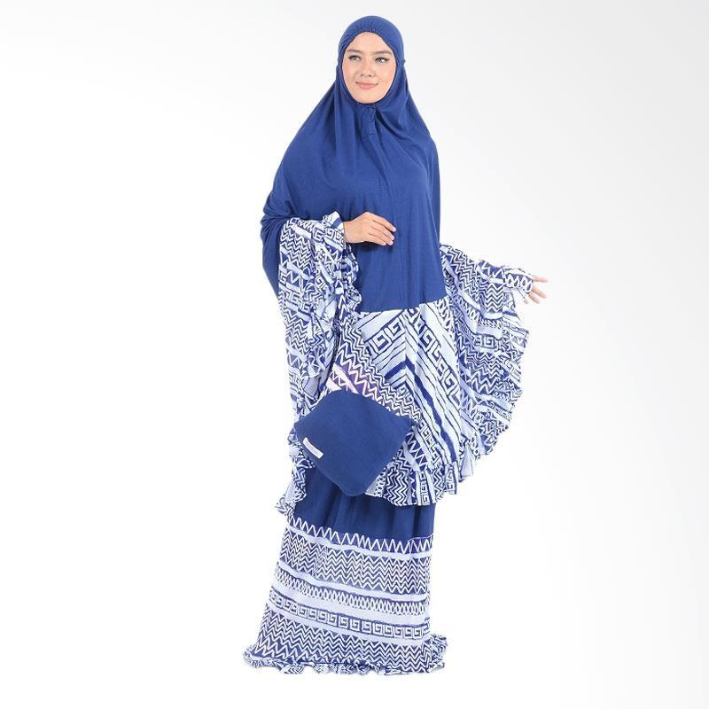 Boontie Aztec Rayon Knitt Mukena Syar'i - Navy Blue
