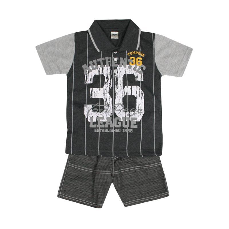 Produk TOMPEGE TP-52301 Setelan Baju Anak Laki-laki - Abu Tua Terbaru