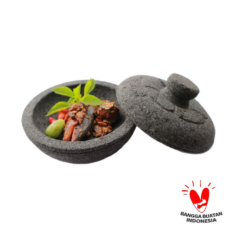Mandiri Stone Batu Lava Merapi Cobek Tutup Mukun