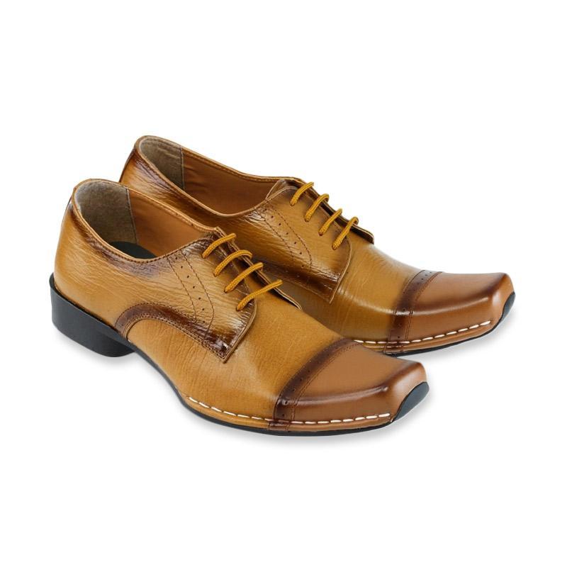Golfer Men Pantofel Sepatu Formal Pria - Tan  GH27  1f5e44eab9