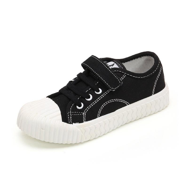Black or White Child Size 6-5 Retro Canvas Lace Up Plimsoll Pumps PE Shoes