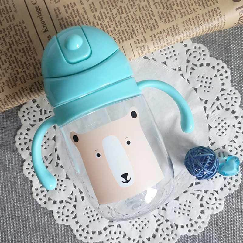 New Anti Spill Cup Sippy Drinking Water Bottle Cup Straw Feeder for Baby Kids LA
