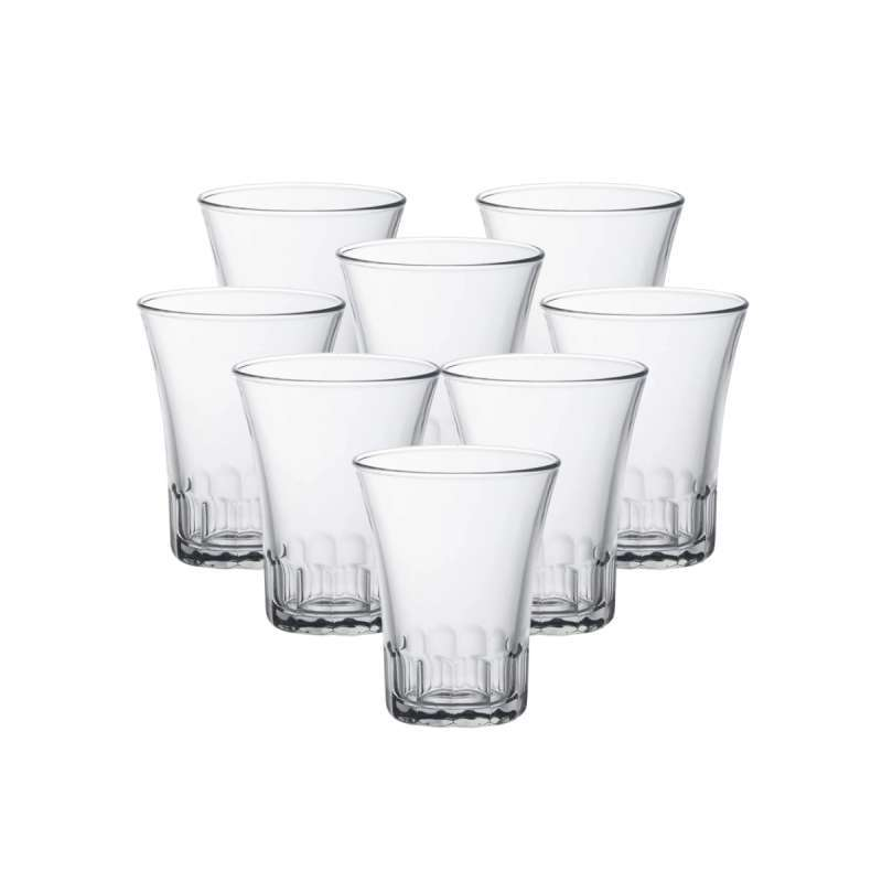 Duralex Gelas Sloki Amalfi Tumbler 70 mL Set of 8 pcs Tempered Glass