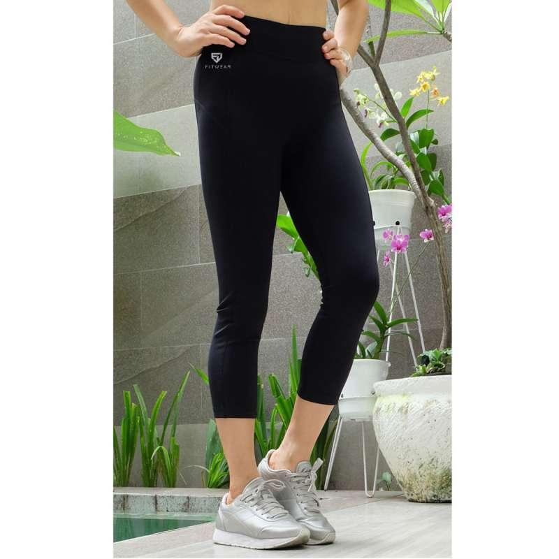 Jual Fitwear Lld Plain 3 4 Legging Olahraga Wanita Online Oktober 2020 Blibli Com