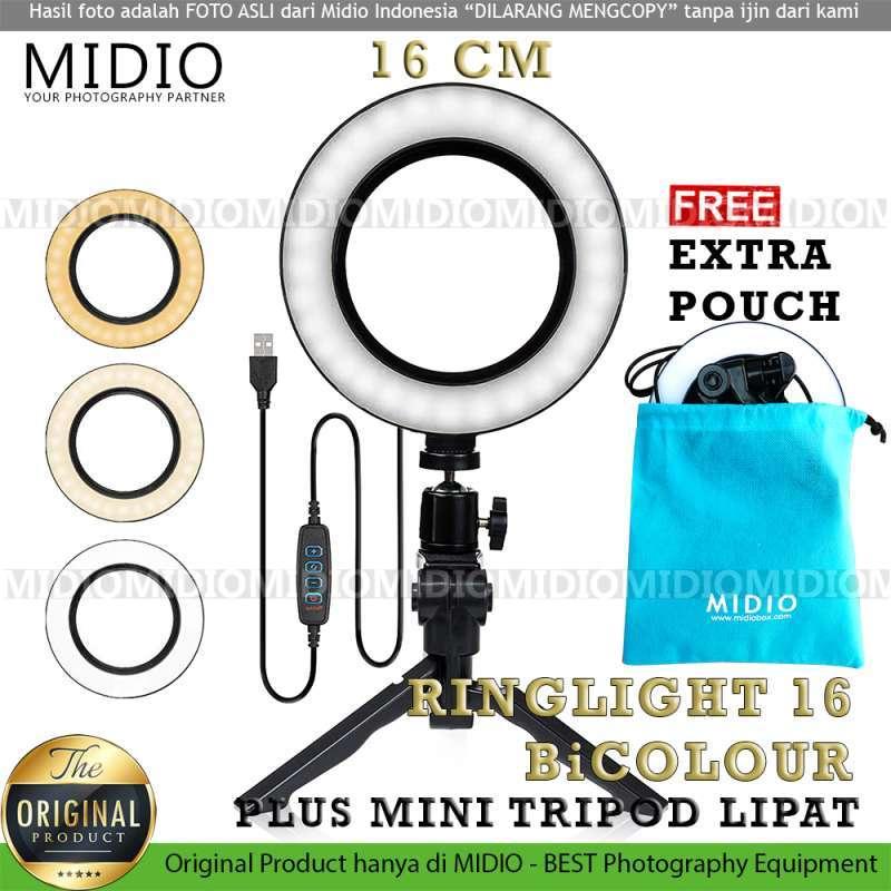 Ring Light 16 Midio For Selfie Vlogger and Livestreamer