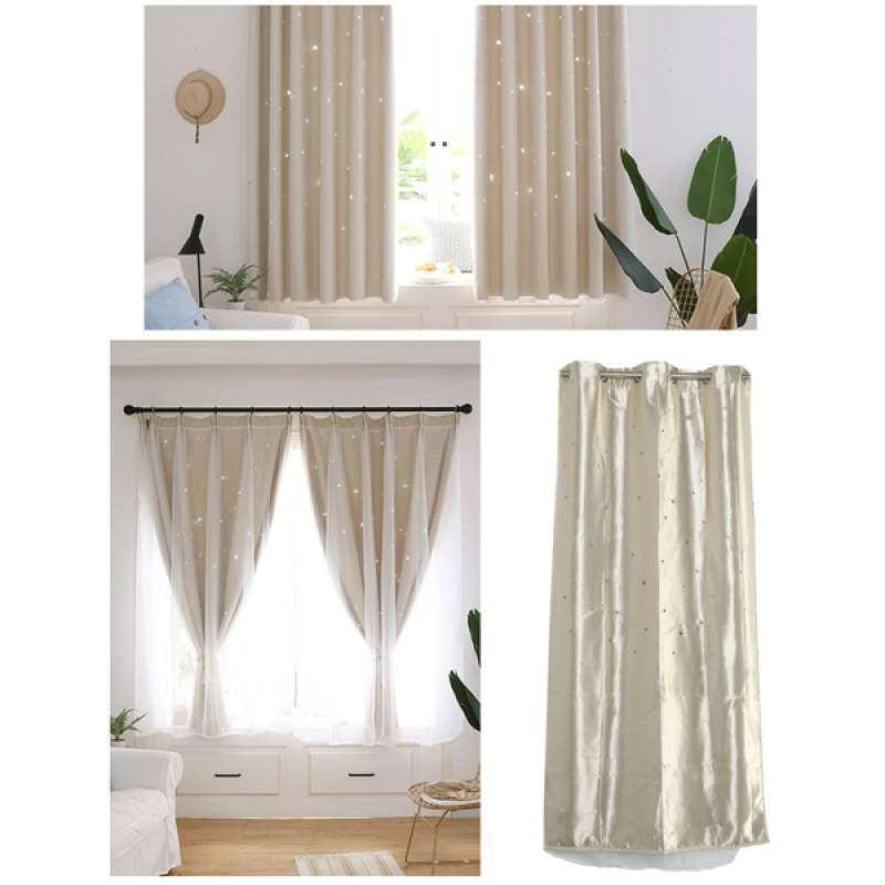 Jual Girls Bedroom Curtain For Starry Twinkle Blackout Curtains With Voile Online Oktober 2020 Blibli Com