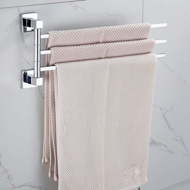 Jual 2x Bathroom Towel Rack Durable Wall Mounted Towel Rack For Bathroom Online Januari 2021 Blibli