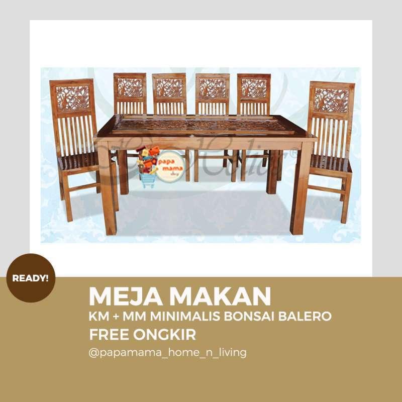 Jual Meja Makan Ukiran Antik 6 Set Meja Makan Kayu Jati Jepara Murah Tipe Minimalis Bonsai Medan Online Mei 2021 Blibli
