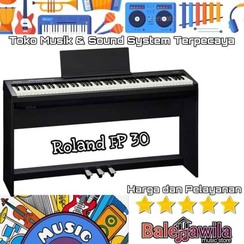 Jual Digital Piano Roland Fp30 Fp 30 Stand Dan 3 Pedal Original Roland Fp 30 Digital Piano Original Online Januari 2021 Blibli
