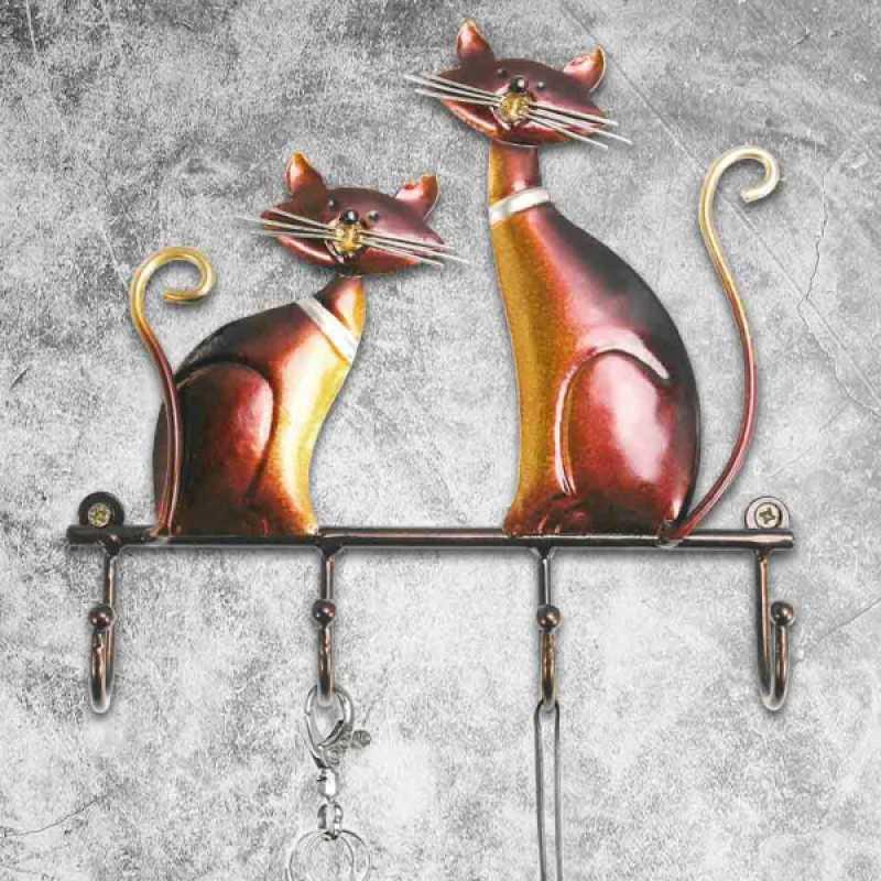 Jual Cat Key Rack Holder Hanger Entryway Organization Wall Mount 4 Hooks Home Decor Online Januari 2021 Blibli