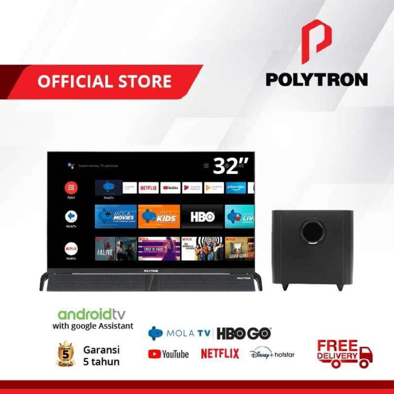 POLYTRON Smart Cinemax Soundbar LED TV 32 Inch PLD 32BAG9953