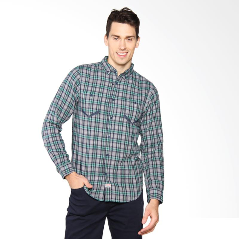 3SECOND Double Pocket Chequered 2 Shirt - Green 107041711