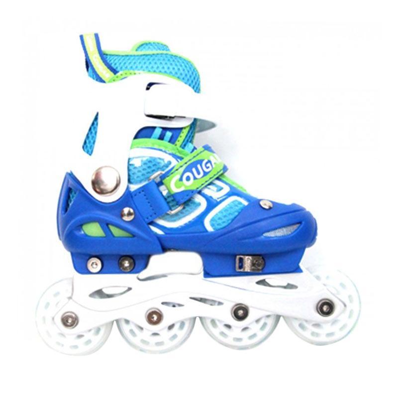harga Cougar ADJ.Inline Skate W-ABEC7 MZS835LSG Sepatu Roda - Black White [38-41] Blibli.com