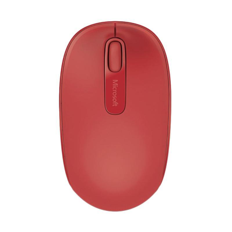Microsoft 1850 Wireless Mobile Mouse - Red