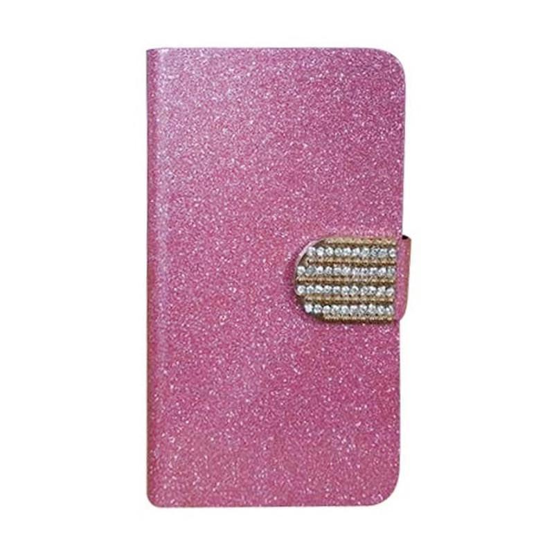 OEM Case Diamond Cover Casing for Oppo A39 - Merah Muda
