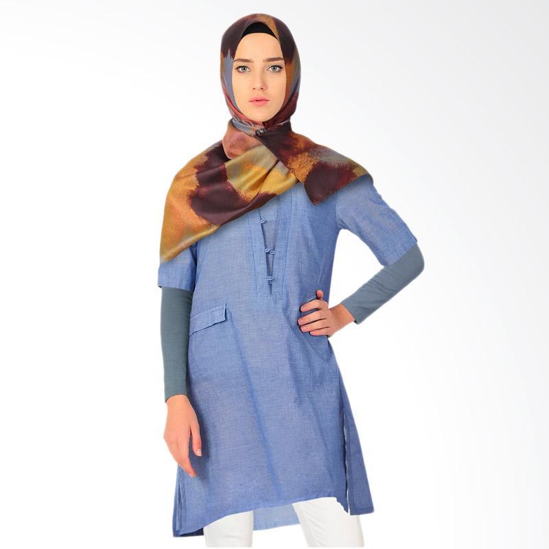 Virginia Tunik Muslim Wanita - Blue