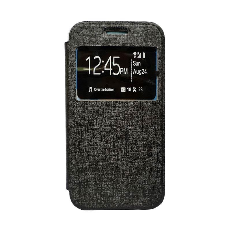 Zagbox Flip Cover Casing for Samsung Galaxy J1 Ace - Hitam