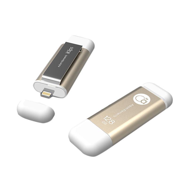 Adam Elements Iklips Flash Drive - Gold [128 GB]