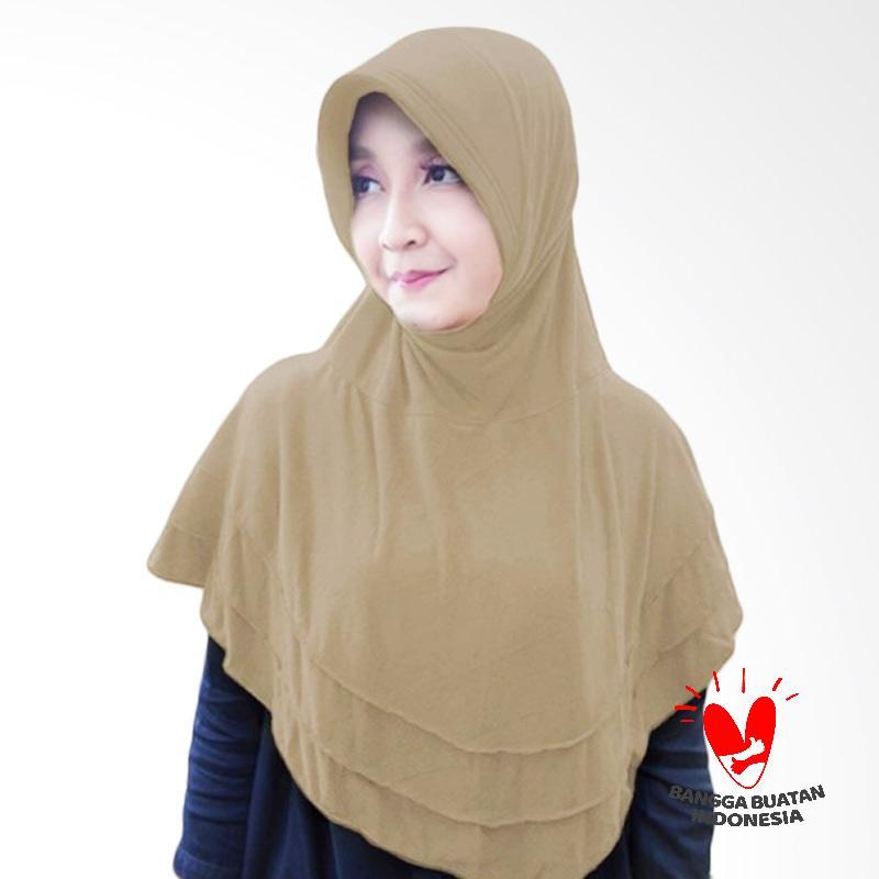 Milyarda Hijab Bergo Plat Kerudung Instant - Cream
