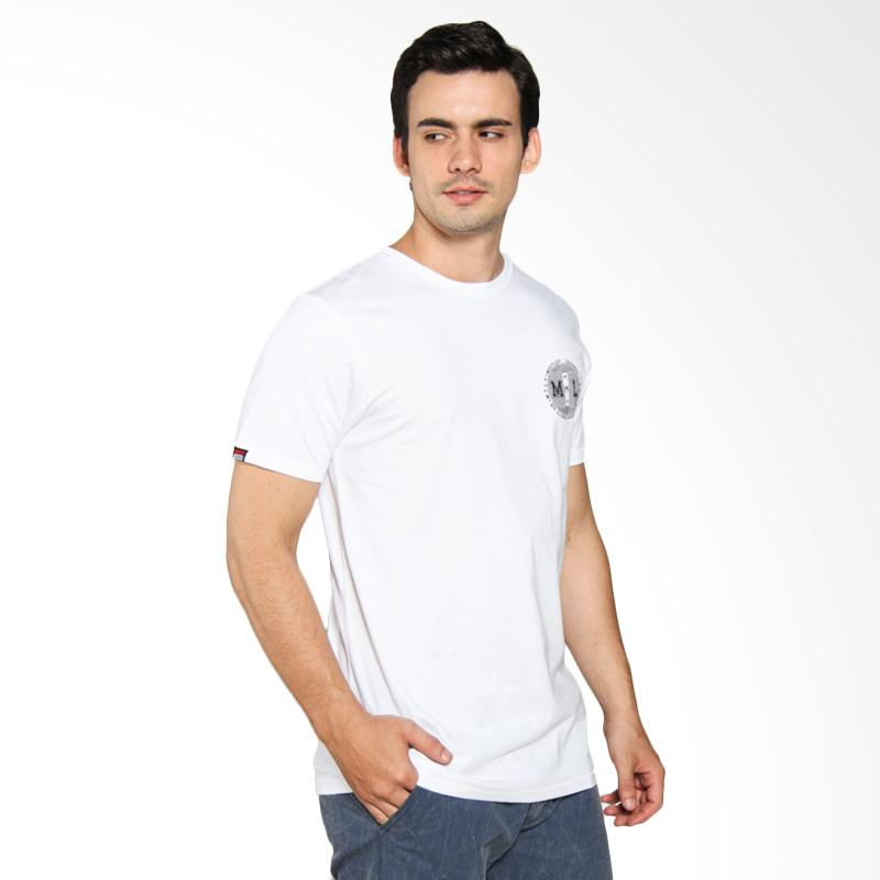 Moutley Printed Relaxed Man Tee - White [308031712]