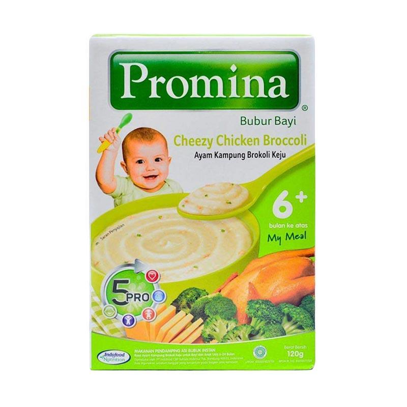harga Promina Cheezy Chiken Broccoli Bubur Bayi [120g x 5pcs] Blibli.com