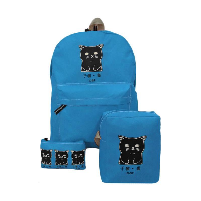 Bag & Stuff The Cat 3in1 Bag Set Tas Wanita - Toska