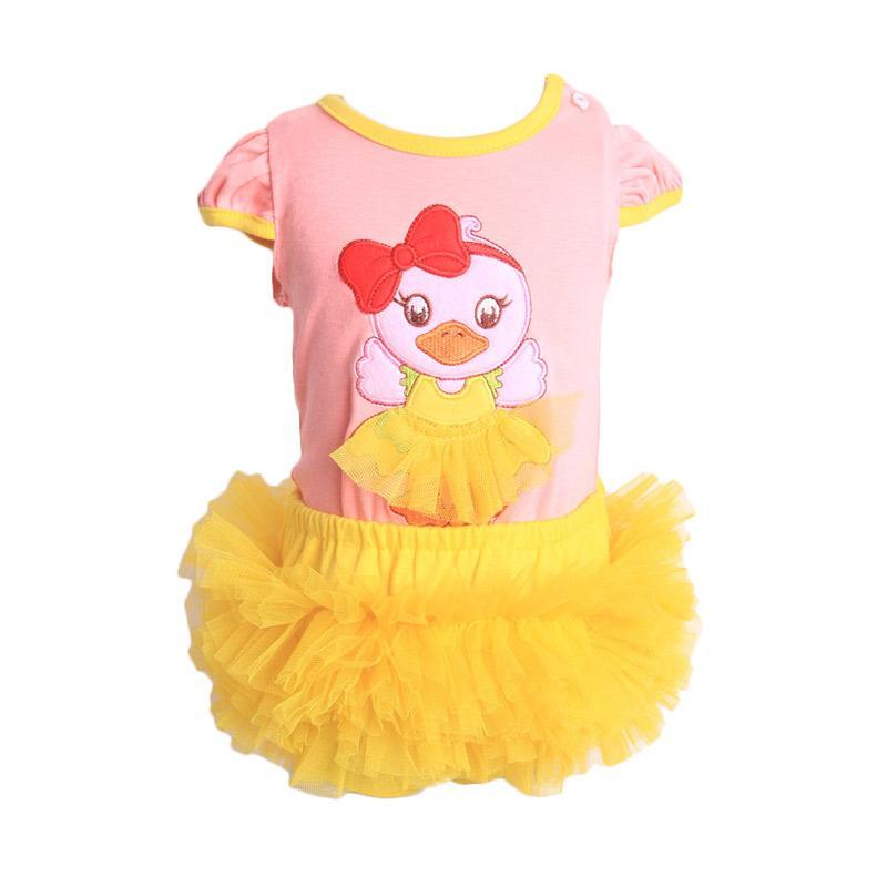 Chloe Babyshop F903 Pant Tutu Duck Setelan Pakaian Anak - Peach