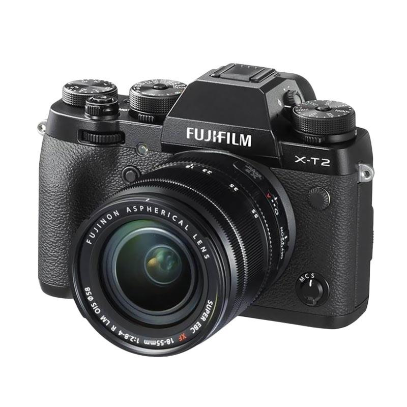 Fujifilm X-T2 Kit 18-55mm f2.8-4 Kamera Mirrorless Bonus Instax Share SP-2 Black