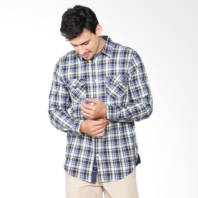 Greenlight 208031711 Relaxed Shirt Pria - Blue