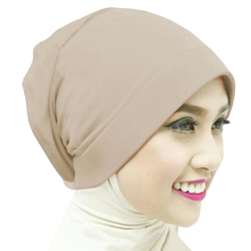 Kus_group Hijab Naura Ciput - Coklat muda
