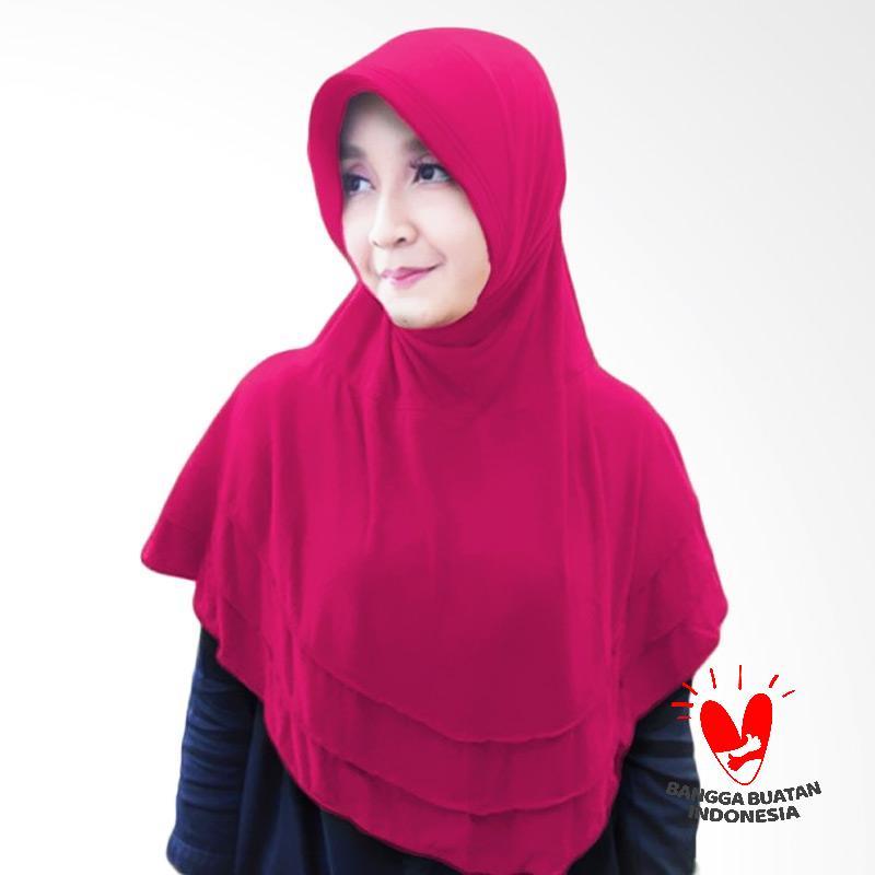 Milyarda Hijab Bergo Plat Kerudung Instant - Pink