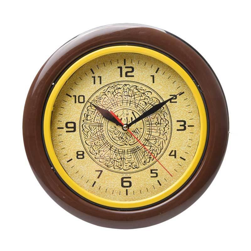 Miracle Isl 27 Motif Kaligrafi Ring Jam dinding - Brown [25 cm]