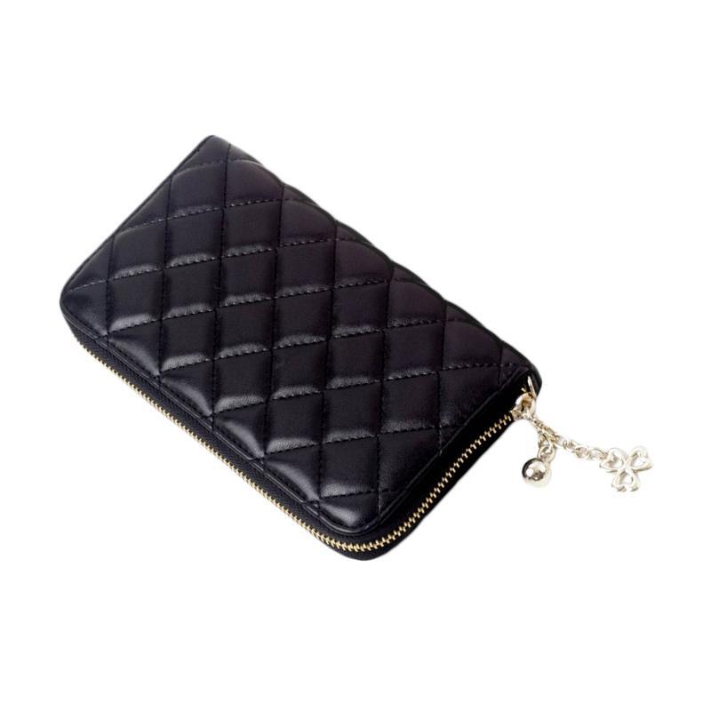 harga Paroparoshop Quilted Wallet - Black Blibli.com