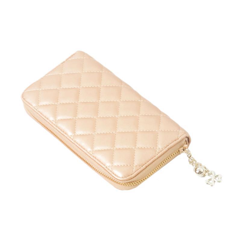 harga Paroparoshop Quilted Wallet - Gold Blibli.com