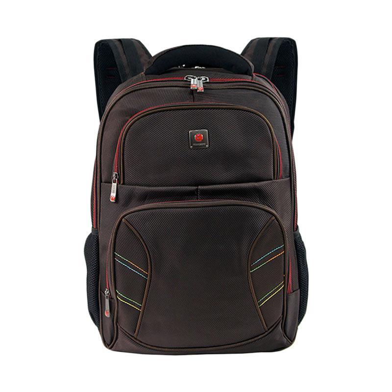 Polo Classic 18077-21 Backpack + Rain Cover - coffee