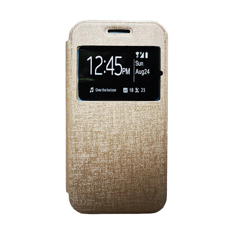 Zagbox Flip Cover Casing for Asus Zenfone 2 ZE550ML 5.5 Inch - Gold