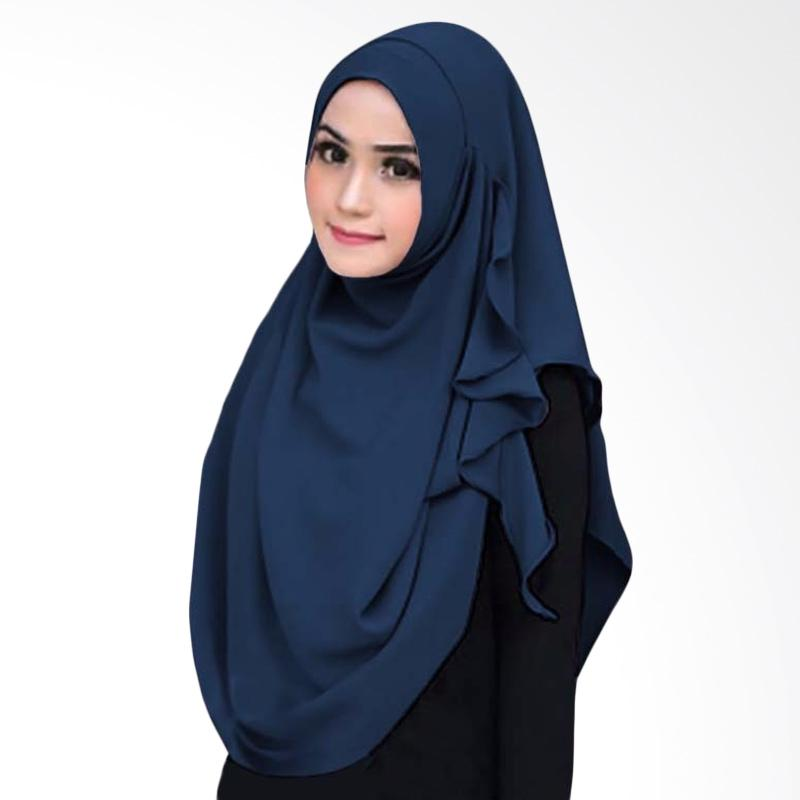 Kus_group Flowing Hijab Instant - Navy