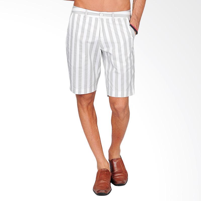 SJO & SIMPAPLY Maxwell Stripe Men's Shorts - Grey