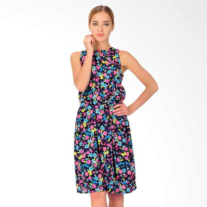 Montana Navy Flower Women's Dress