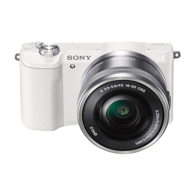 SONY Alfa 5100 Kamera Mirrorless - White + SANDISK SD ULTRA 16GB + FILTER UV