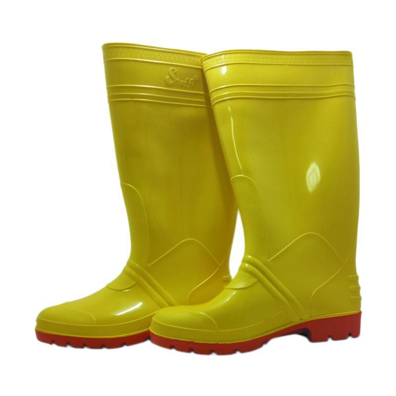 harga Steffi Karet Sepatu Boots - Kuning [Tinggi 41 cm] Blibli.com