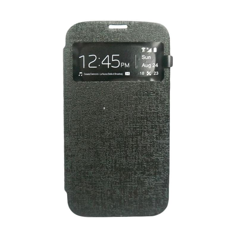 UME Flip Cover Casing for Zenfone 3 Max ZC520TL - Hitam