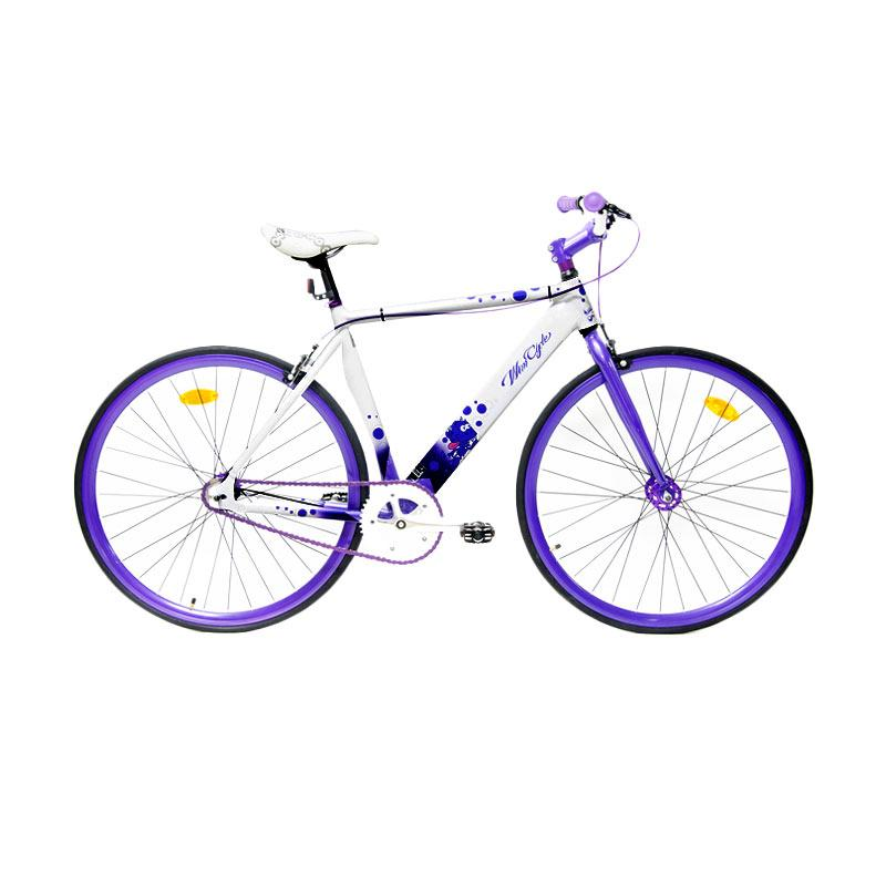 harga WimCycle 700 C Alloy Sepeda Fixie - Putih Ungu Blibli.com