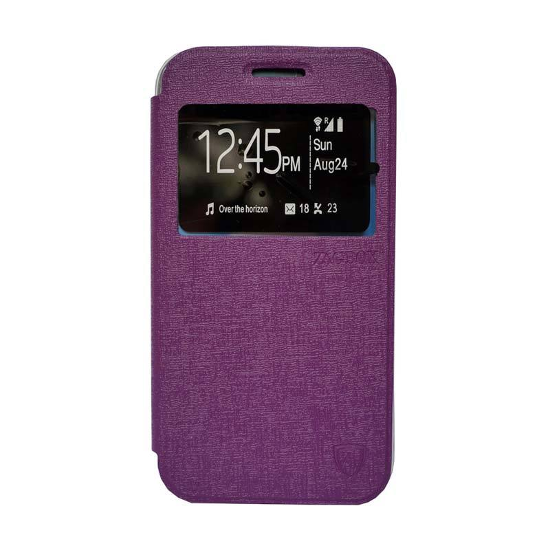 Zagbox Flip Cover Casing for Samsung Galaxy J1 Ace - Ungu