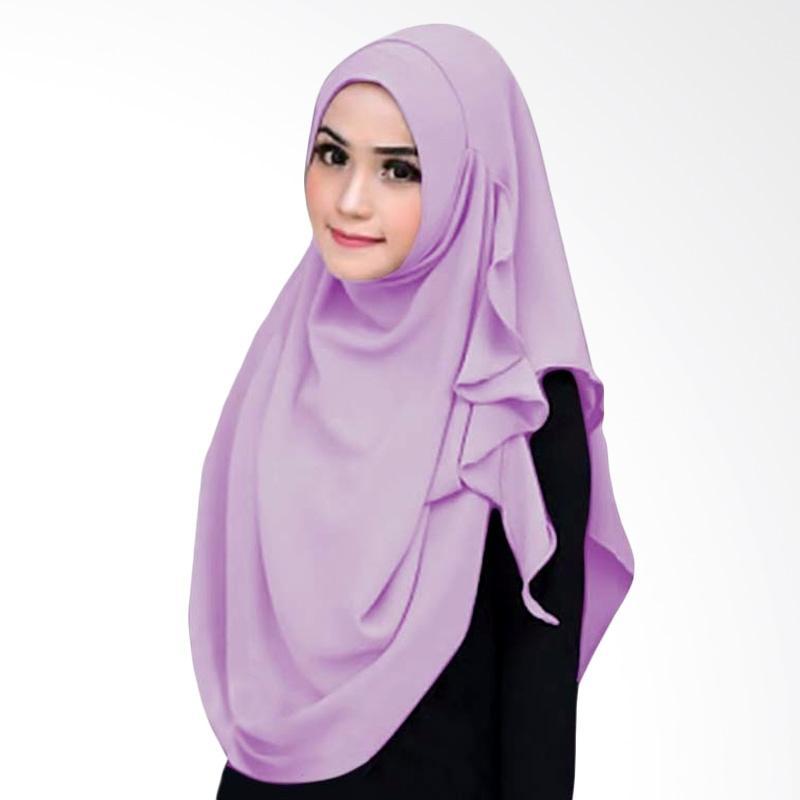 Kus_group Flowing Hijab Instant - Ungu