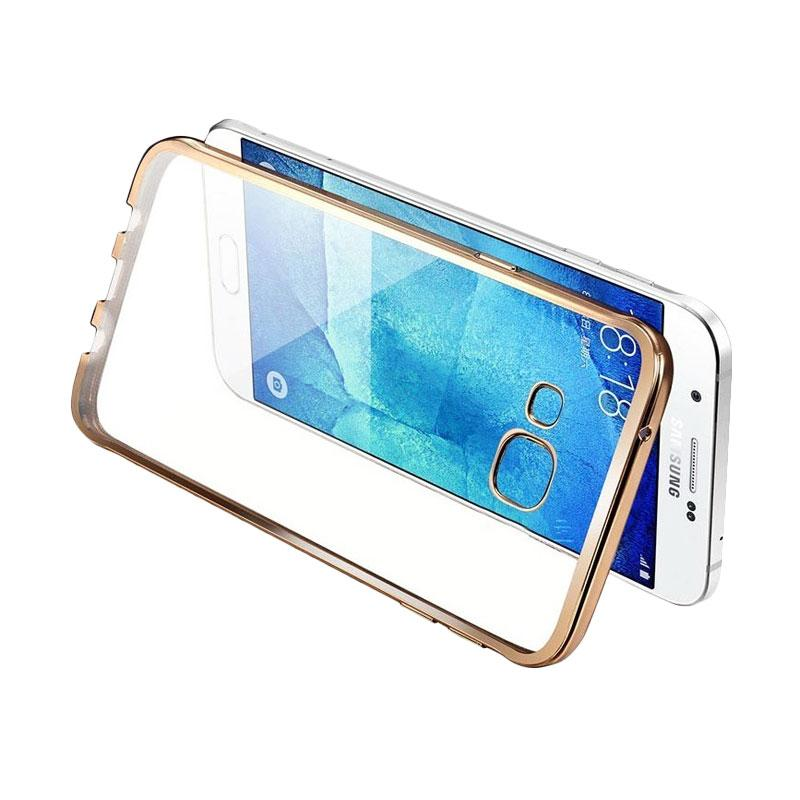 OEM Case Shining Chrome Softcase Casing for Samsung A520 A5 2017 - Gold