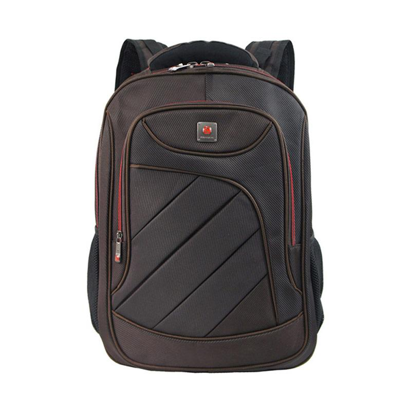 Polo Classic Backpack with Rain Cover 18076-21 - Coffee